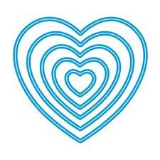 Sweet Dixie Die Heart Nesting Dies love cardmaking scrapbooking wedding