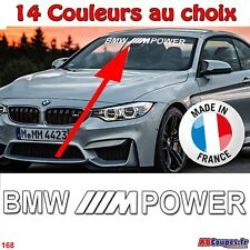 Lettrage Pare soleil BMW M Power - Sticker autocollant série 1 3 4 5 6 -168