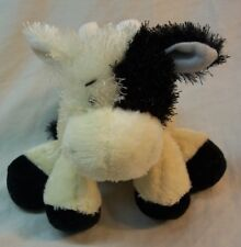 "Webkinz Lil' Kinz CUTE FUZZY BLACK & WHITE COW 6"" Plush Stuffed Animal Toy GANZ"