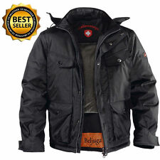 Wellensteyn Men's winter coat Moto Jacket Beljuga Black with Hood Size M/L