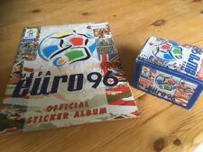 EMPTY MERLIN UEFA Euro 96 1996 Sticker Album + Box Of 50 Packets (300 Stickers)