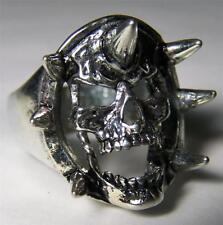 QUALITY SKULL WITH SPIKES RING #181 jewelry unisex MENS womens BIKER new retro