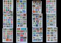 World Stamp Collection Great Britain Isle Of Man & United States Free Shipping