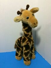 "1982 Giraffe R Dakin 16"" Brown Tan Plush Stuffed Vintage Zoo Animal Toy"