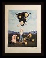 Tito Salomoni Catch a Star Hand Signed & Numbered Lithograph Surreal ART