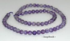 5MM AMETHYST GEMSTONE LIGHT PURPLE ROUND 5MM LOOSE BEADS 15.5""