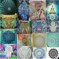 74 Tapestry Hippie Bedspread Wall Hanging Beach Towel Indian Yoga Mat Decor Twin