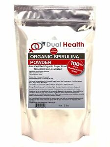 Organic Spirulina (2 lb) Powder USDA Chlorophyll Non-GMO Non-Irradiated Protein