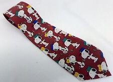 Snoopy Golf Men's Neck Tie 100% Crepe De Chine Silk