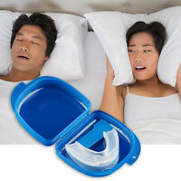 Mouth Guard Stop Teeth Grinding Anti Snoring Bruxism with Case Box Sleep Aid ox