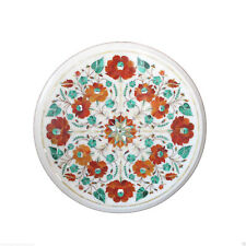 12'' Marble Malachite Mosaic Inlay Decoration Coffee Table Top Furniture Decor