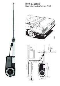 Elektrische Antenne Original Hirschmann Teleskop Antennefür BMW E30 Cabrio