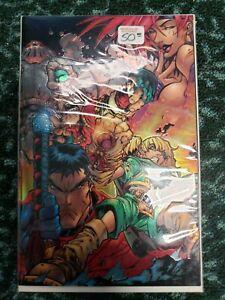 Joe Madureira Battle Chasers #1 virgin variant (chromium wrapped cover)