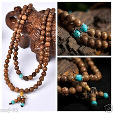 108 Sandalwood Buddhist Buddha Meditation 6mm Prayer Bead Mala Bracelet