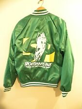 Vtg SPORTSMAN'S PARK RACETRACK Chicago Men's Satin Baseball Type Jacket (M) (A7)