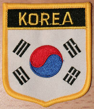 SOUTH KOREA Shield Country Flag Embroidered PATCH Badge P1