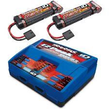Traxxas EZ-Peak DUAL Wall Charger & 2x 3000mAh 8.4V NiMH Batteries SLASH 2WD 4x4