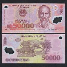 2014 VIETNAM 50,000 50000 DONG POLYMER P-121 UNC> > > > > > > >PAVILLONS IN HUE