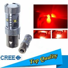BA15s P21W 1156 HIGH POWER CREE LED 30W STOP RETRONEBBIA ROSSO ROSSA RED XBD