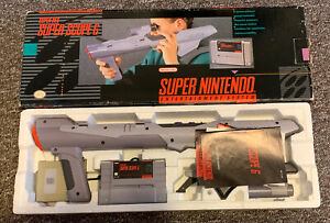 Super Nintendo SNES Super Scope 6 - Receiver, Gun, & Game - COMPLETE in BOX CIB
