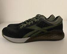 Reebok Nano 9 Olive Green Black Mens Sz 10.5 CrossFit Training Shoes EG7950 NEW!