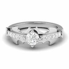Batman Design Engagement Ring In 14K White Gold Certified 2.00Ct White Diamond