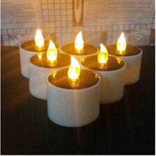 6Pcs senza fiamma LED SOLARE ENERGIA BATTERIA Candela Tea Light Nozze Home Decor