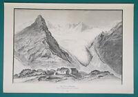 AUSTRIA Tyrol Alps View in Zemmgrund - 1892 Victorian Era Print