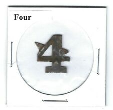 Four Chewing Tobacco Tag 4 Die Cut F324