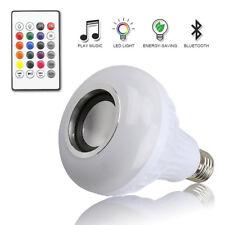 BT E27 RGB LED Glühbirne Mit Lautsprecher Musik Audio Leucht Lamp Fernbedienung