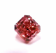 Argyle 0.39ct Natural Loose Fancy Intense Pink Radiant Diamond GIA VS2
