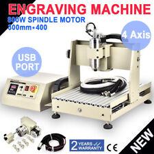 USB 4 Axe 3040 CNC Router Gravure Engraver Drilling Milling Fraises VFD 800W