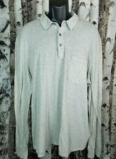 JAMES PERSE Cotton Cashmere Men's Polo Shirt 4 Tan Brown Long Sleeve USA MTG3800