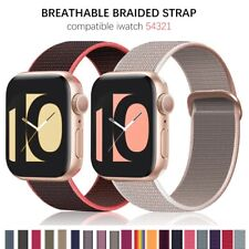 apple watch band series 5 4 3 2 1 38mm 42mm / 40mm 44mm Nylon Strap Sport Loop