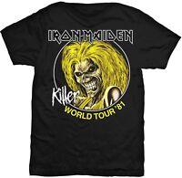 IRON MAIDEN Killer World Tour 1981 Killers Eddie T-SHIRT OFFICIAL MERCHANDISE