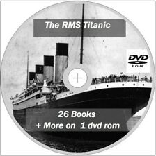 The RMS Titanic 26 Books  + Photos and and more on 1 Dvd Rom