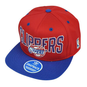 NBA Adidas Los Angeles Clippers LA ZE86 Snapback Flat Bill Red Hat Cap Sport