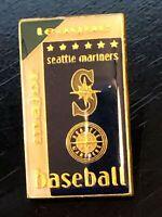 Vintage Collectible Seattle Mariners Baseball Metal Colorful Pinback Lapel Pin
