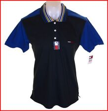 Bnwt Authentic Men's Tommy Jeans Hilfiger Polo Shirt Small Medium New Black