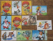 12 Russian Soviet pocket Calendar Kid Child Carton Hero Cartoon fairy tale Anima