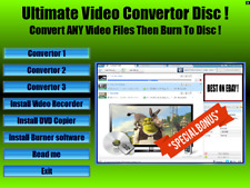 Ultimate Video Converter suite :Convert ANY video/ audio files & burn to disc !