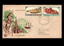 Papua & New Guinea Port Moresby 1st Day 1965 1+2 Pounds & 4d Pence Cover 5l