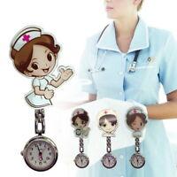 Infirmière Mignon Montre de Gousset Clip-on Broche Metal Hanging Pocket Watch