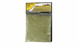 NEW Woodland Scenics FS619 Static Grass Light Green 4mm 42g Bag