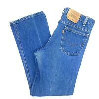Vintage Men's Levi Blue Denim Orange Tab 517 Jeans Made in USA Size 34 x 29