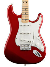 Fender Standard Stratocaster Electric Guitar, Candy Apple Red, Maple (NEW)