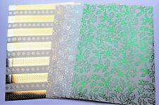 Kanban 6 A4 Christmas Holly & Snowflakes Foiled & Holographic Mirri Card Stock
