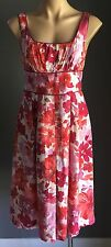 Divine DIANA FERRARI Multi Coloured Floral Print Empire Waist Dress Size 8