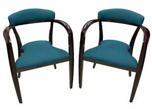 Loewenstein Chair Mid-Century Modern Set of 2, Bauhaus Style Bistro Side Arm