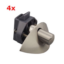 4x Push Button Catch Pop Up Locks Knob Latch Camper RV Boat Cabinet Satin Nickel